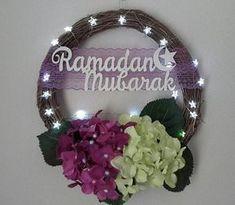 Check out this item in my Etsy shop https://www.etsy.com/listing/607251445/ramadan-mubarak-wreath-with-led