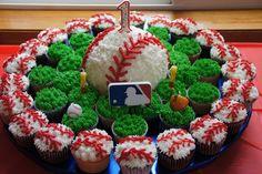 Baseball cupcakes and smash cake