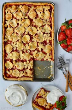 Add a crowd-friendly twist to a classic dessert with this easy but impressive recipe for strawberry slab pie.