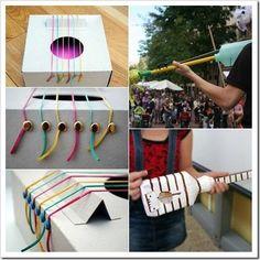 Costruire strumenti musicali con i bambini  laboratori lavoretti attività musica  per bambini strumenti musicali riciclo kids craft musical