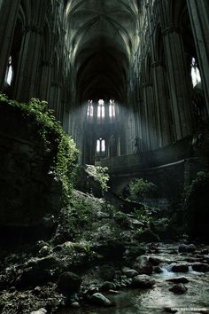 St-Etienne abandoned church, Bourges, France