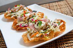 Seared Ahi Tuna Taco's- Trying this today! Wasabi Recipes, Tuna Recipes, Seafood Recipes, Asian Recipes, Appetizer Recipes, Mexican Food Recipes, Appetizers, Cooking Recipes, Healthy Recipes