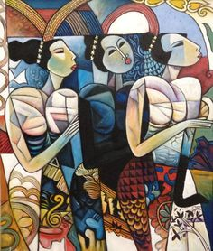 Modern large asian paintings for sale at great prices and free shipping worldwide | Cyan Art Collection