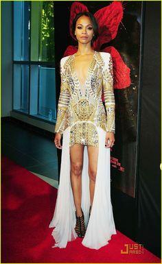More Balmain...sb: I <3 Zoe Saldanda almost as much as i <3 Oliver Rousteing