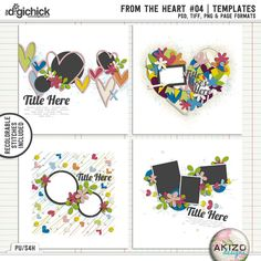 From The Heart #04 | Templates