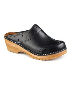 Look at this Black Durer Leather Clog on #zulily today!