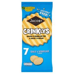 Jacobs Crinklys Salt And Vinegar 7 X 25G