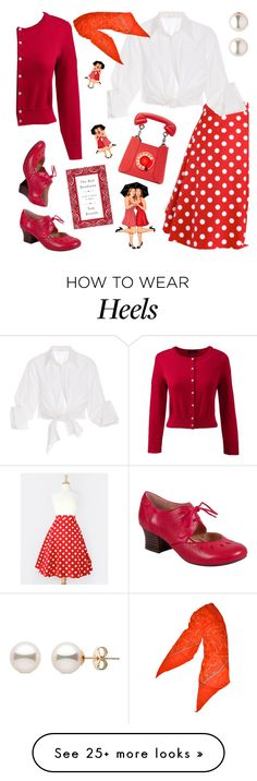 """All about the Fifties!"" by petalp on Polyvore featuring Lands' End, Yazbukey, Miz Mooz, Johanna Ortiz and Diane Von Furstenberg"