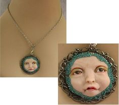 Whimsical Fairy Face Necklace Jewelry Handmade NEW Polymer Clay Art Accessories #handmade #Pendant http://www.ebay.com/itm/Whimsical-Fairy-Face-Necklace-Jewelry-Handmade-NEW-Polymer-Clay-Art-Accessories-/161422390337?
