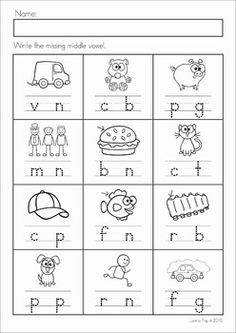 Worksheet Missing Vowel Sound Worksheet thanksforcheckingoutmissingmiddlesfreebieinthis alphabet letter sounds review no prep