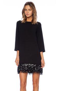 Kate Spade New York Sequin Fringe Mini Dress Black Shift Silhouette Women's Sz 8 Trendy Dresses, Elegant Dresses, Nice Dresses, Casual Dresses, Short Dresses, Fashion Dresses, V Dress, Sequin Dress, Casual Chic