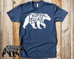 Poppa Bear Crew Tee  Available In 2 Styles by WildernessApparel