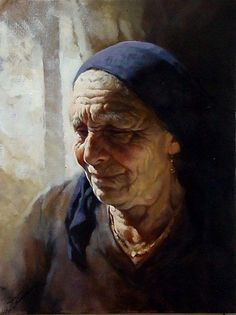 GIANNI STRINO (Nápoles, 1953). I love the lines and wisdom on her face. Oh, the stories she could tell!