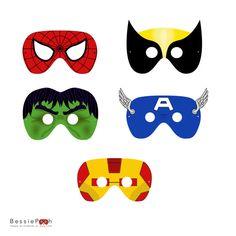 Printable SPIDERMAN and FRIENDS masks. Instant download PDF file. via Etsy