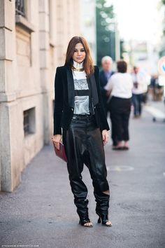 la modella mafia Christine Centenera fashion editor Spring 2013 street style 1