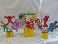 Sesame Street Centerpiece 13 pieces. $40.00, via Etsy.