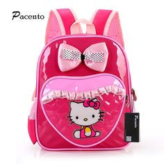 74b667c796cd Hello Kitty Schoolbag Kindergarten Backpack for Kids Girl Shoulder Infant  Cute Cat School Bags Orthopedic Backpacks