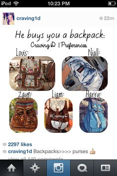 Uhh, anyone lese notice that Niall's backpack is a different style that the others? Eh, is it because he's Irish? Just Joking! He's special. :P
