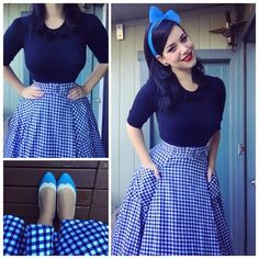 Retro Fashion I love it when outfits bring back memories of special times this outfit I… - Pin Up Outfits, Skirt Outfits, Cute Outfits, Fashion Outfits, Retro Fashion 50s, Rockabilly Fashion, Vintage Fashion, Vintage Stil, Vintage Looks