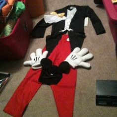 NEW Disney Store MICKEY MOUSE Halloween ADULT MENS COSTUME S