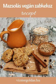 Cukormentes sütik, finomságok - Mazsolás vegán zabkeksz Healthy Cake, Healthy Recipes, Fitt, Biscotti, Vegan, Kitchen, Healthy Meatloaf, Cooking, Kitchens
