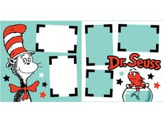 Seuss Scrapbook Page Kit Cruise Scrapbook, School Scrapbook, Disney Scrapbook Pages, Scrapbook Titles, Scrapbook Sketches, Scrapbook Page Layouts, Baby Scrapbook, Scrapbook Paper, Scrapbooking Ideas