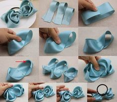 How to Make Ribbon Bows - Accessories Diy Bow, Diy Ribbon, Ribbon Crafts, Ribbon Bows, Big Hair Bows, Hair Ribbons, Making Hair Bows, Ribbon Flower Tutorial, Hair Bow Tutorial