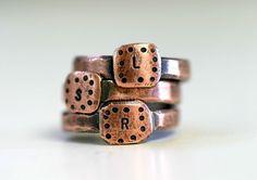 Personalized Custom Initial Band Ring Copper by monkeysalwayslook monkeys always look