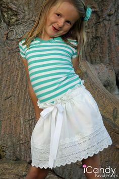 Girls Paper Bag Style Pillowcase Skirt tutorial - beautiful