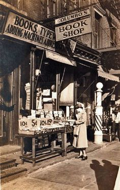 Bookshop at 33 Canal St. at West Broadway, 1933. P.L. Sperr