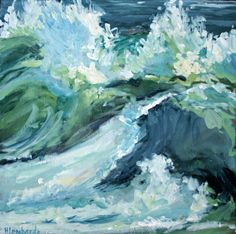 Who doesn't like a painting of the ocean? another Holly Lombardo ~ love the colors