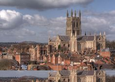 Worcester Cathedral .... Worcester, England .... I have been here, the interior is rich with beautiful history...