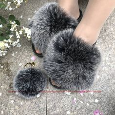 Size: choose your normal US size. we will send based on your normal US size.Material: Real Genuine fox fur.Color:Black frost*Comfy PVC sole. Flexible and normal wide. Could wear for whole day.*Will not get scratch or blister*And fur is sewing on slides . no glue smelly.*Large Fur Above.*Real photoes are made by ourselves. THe one you see will be one you got.Color note:1 The real color of the item may be slightly different from the pictures shown on website,caused by many factors sucb as brightne Shoes Photo, Fur Pom Pom, Fur Slides, Fox Fur, Picture Show, Factors, Frost, Color Black, Comfy