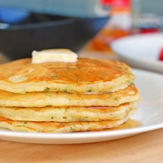 Sweet Zucchini Pancakes - Pinch of Yum!