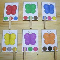 бабочка цвета клип карты для детей дошкольного и детского сада