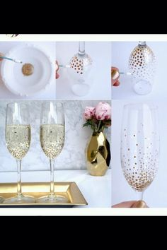 Turn A Plain Wine Glass And Jaz It Up A Bit With Nail Varnish Good For Gift Idears For People Xx#DIY&Crafts#Trusper#Tip