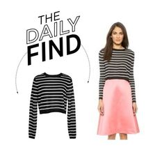 """Daily Find: Tibi Cropped Sweater"" by polyvore-editorial ❤ liked on Polyvore featuring TIBI and DailyFind"