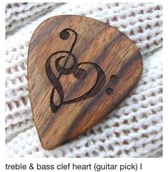 treble & bass clef heart (guitar pick) I would like to get a musical tatoo and this is pretty cool. this is a really cool guitar pick I Love Music, Music Is Life, Guitar Art, Music Guitar, Guitar Keys, Music Clock, Acoustic Music, Piano Keys, Guitar Chords