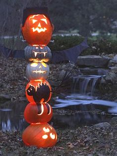 Tower of Pumpkin Power! talk about a night light #halloween