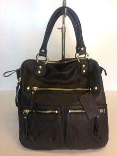 Linea Pelle Black Leather Purse $201