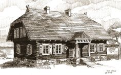 Drewniana willa nad Wigrami