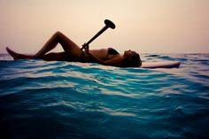 paddle boarding.