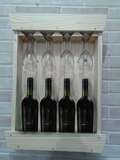 Adega De Vinhos Pallets com porta taças