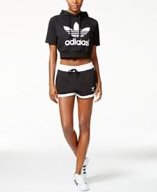 bd0d7bbc82e80  adidas Originals Cropped  Hoodie  amp  French Terry  Short Shorts Online