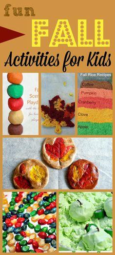 Fun Fall Activities for Kids via 123 Homeschool 4 Me