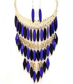 Blue Magic Large Statement Necklace by LStarAccessories on Etsy, $20.00