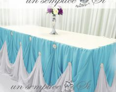 Making Table Skirt Basic Twist Style With Two Color Clothes Part 1 You Decoracion Salones Pinterest Styles Centerpieces And Weddings