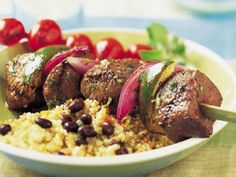 Mojo Beef Kabobs. Use half of the sauce for a marinade.