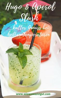 Hugo & Aperol Slush - Serena D. Flavored Vodka Drinks, Vodka Recipes, Cocktail Recipes, Easy Recipes, Vodka Strawberry Lemonade, Raspberry Vodka, Pudding Shots, Hot Toddy, Refreshing Cocktails