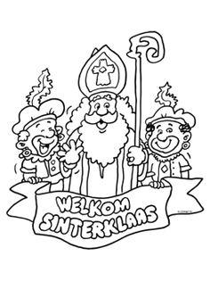 Kleurplaat Welkom Sinterklaas